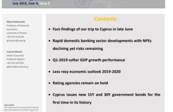 Cyprus Quarterly Economic Monitor July 2019